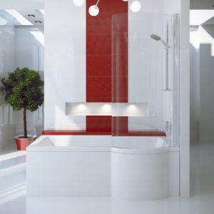 Акриловая ванна BESCO INSPIRO с душевой кабиной 150x70 R