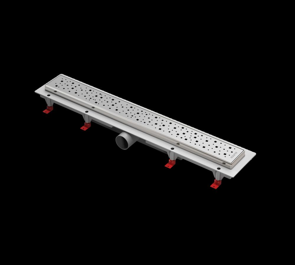 Водоотводящий желоб ALPEN Square ALP-750SN с рамкой