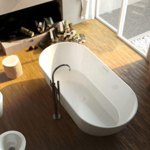Ванна из литого мрамора ALPEN Palermo 150