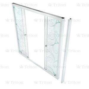 Душевая штора стекло Узоры 150