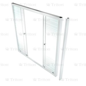 Душевая штора стекло Полосы 170