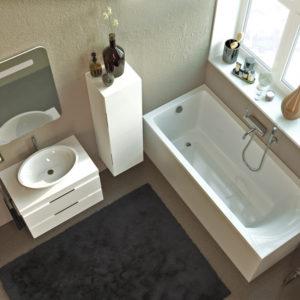 Акриловая ванна ALPEN Venera 180