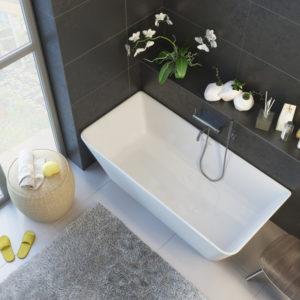 Ванна из литого мрамора ALPEN Novara 170