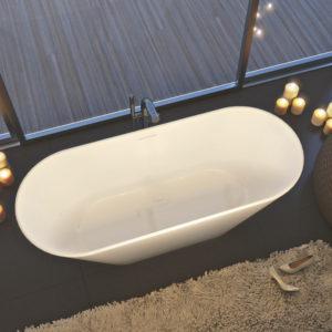 Ванна из литого мрамора ALPEN Bergamo 170