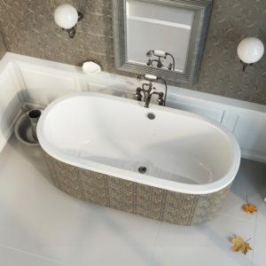 Акриловая ванна ALPEN Astra O 165