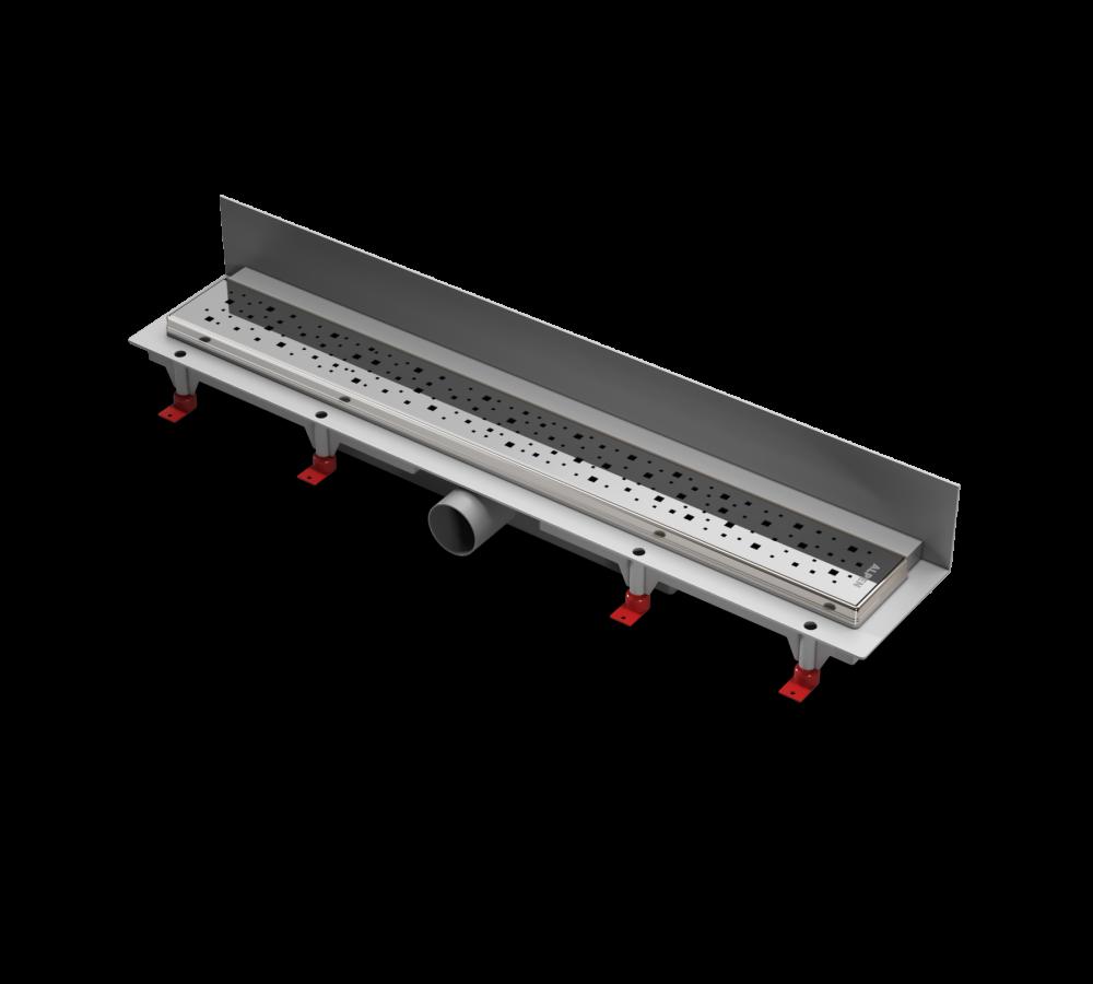 Водоотводящий желоб ALPEN Square ALP-750SN2 к стене с рамкой